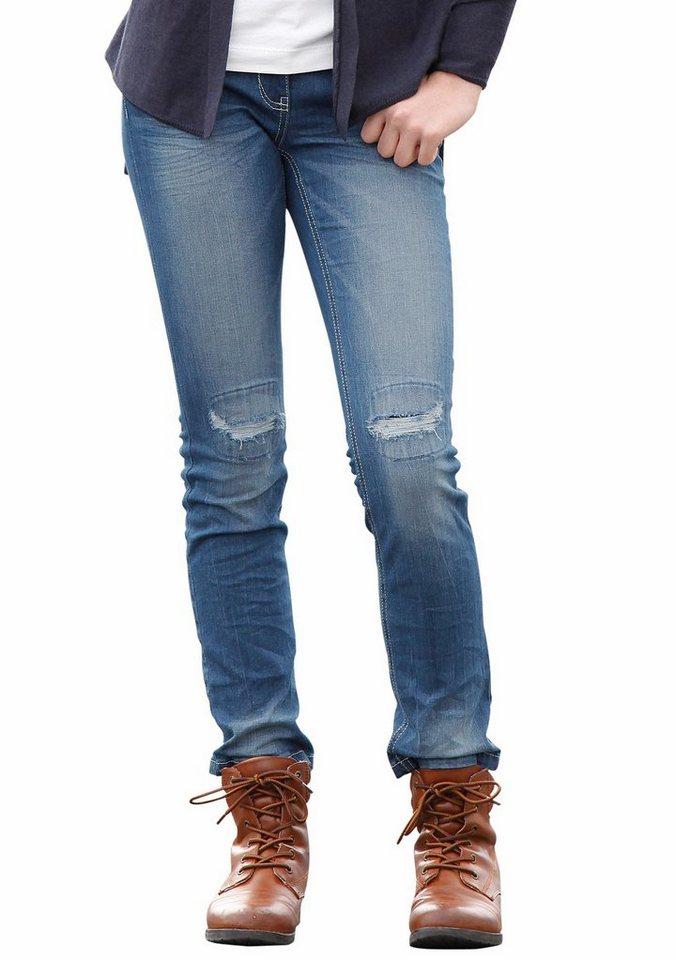 s.Oliver RED LABEL Junior Jeans in schmaler Form, für Mädchen in blue denim