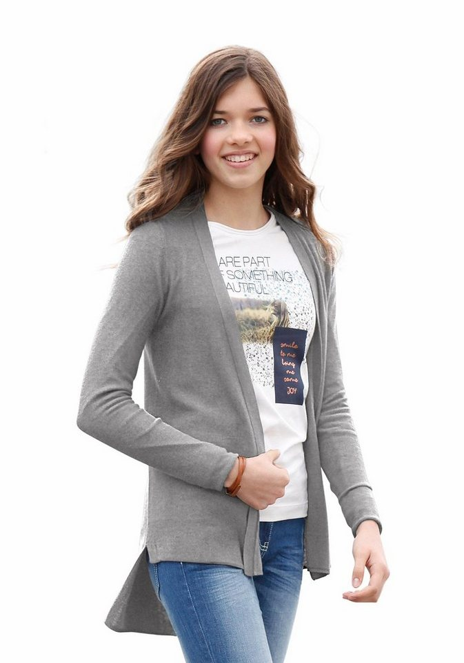 s.Oliver RED LABEL Junior Strickjacke zum Offentragen in grau