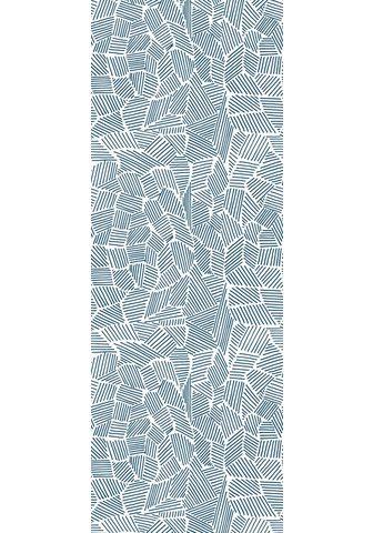 queence Vinyltapete »Muster-Blau« 90 x 250 cm ...