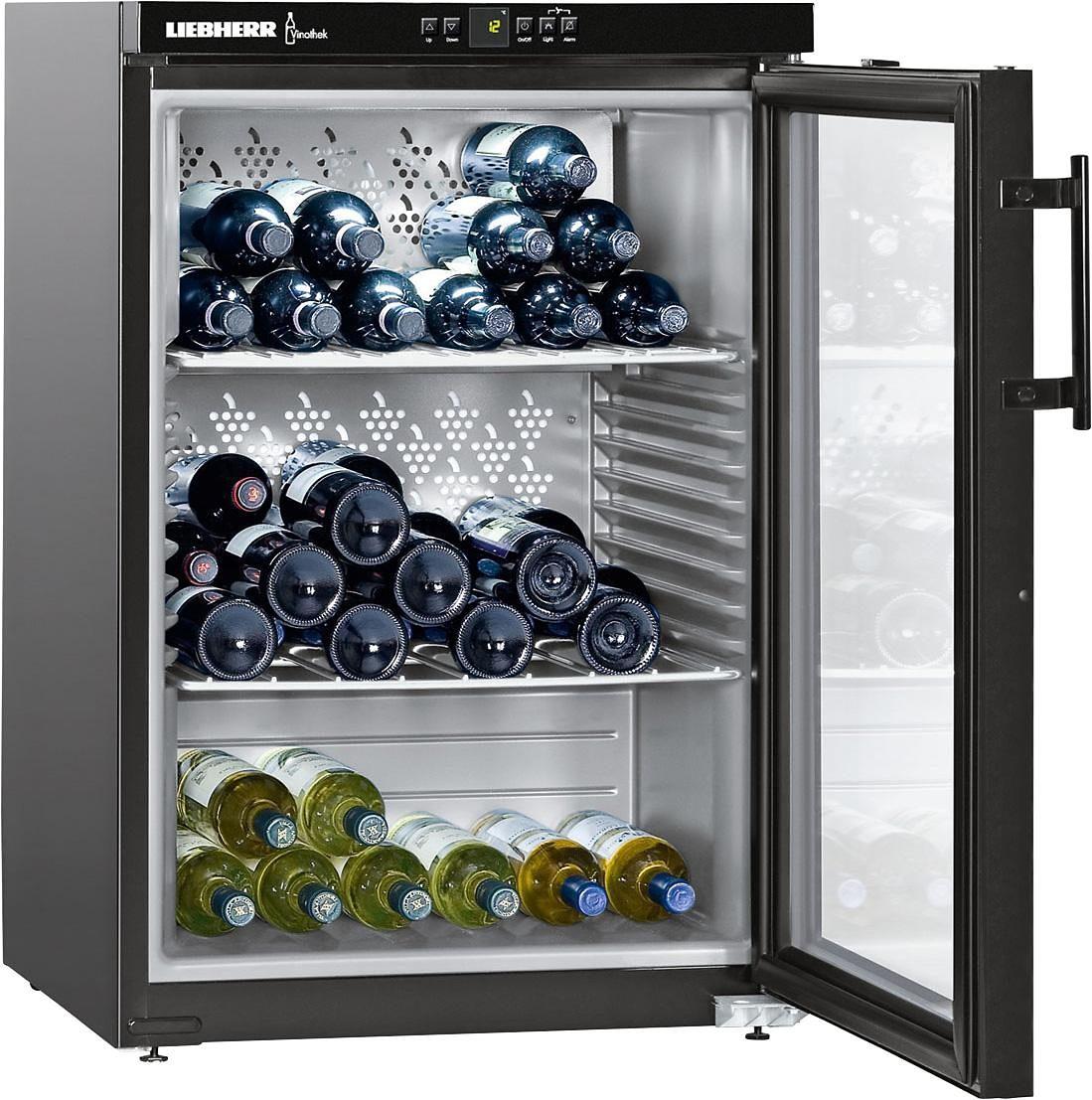 Liebherr Weinkühlschrank WKb 1812-21, für 66 Standardflaschen á 0,75l,A+, 89 cm, für 66 Bordeauxflaschen á 0,75l