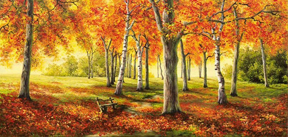 Home affaire, Deco Panel, »Herbststimmung«, 100/50 cm in orange/grün