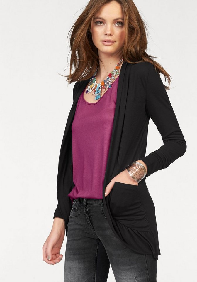 Melrose Shirtjacke in schwarz