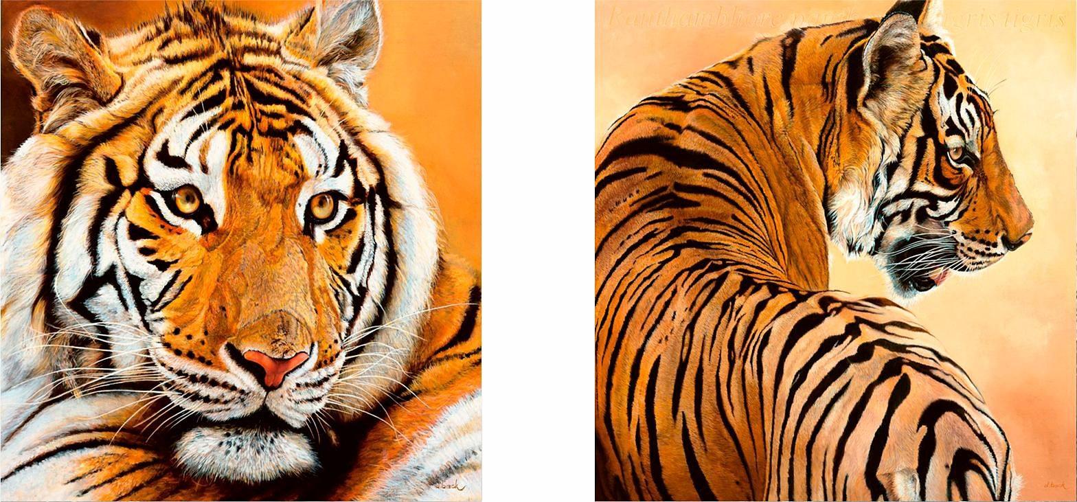 Home affaire, Deco-Panel, »Tigerportrait«, 2x 30/30 cm