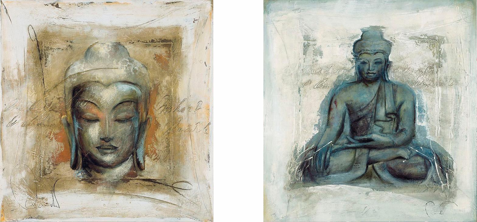 Home affaire, Deco-Panel, »Buddha: innerer Friede«, 2x 30/30 cm