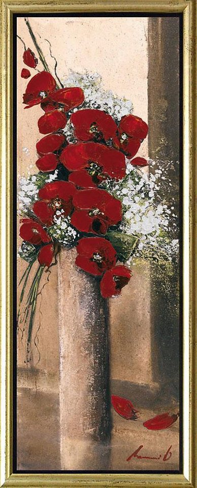 Home affaire, Schattenfugenbild, »Blumen in rot I«, 38/100 cm in rot/creme