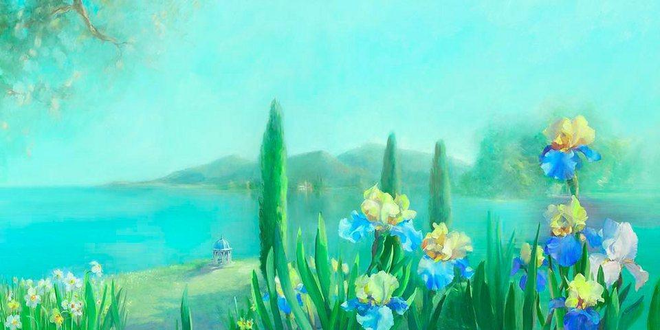Home affaire, Deco Panel, »Landschaft«, 100/50 cm in türkis