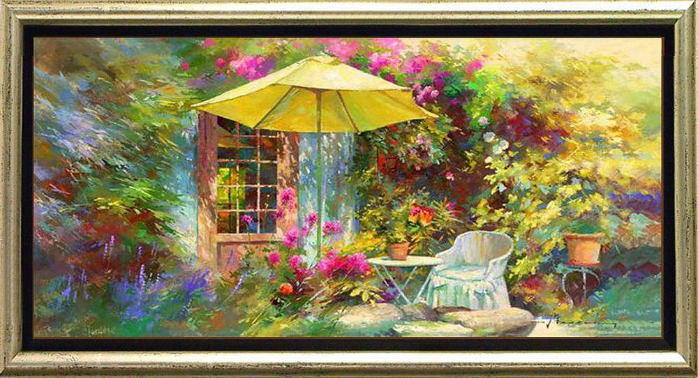 Premium Picture, Schattenfugenbild, »Die Terrasse von Marie«, 105/55 cm