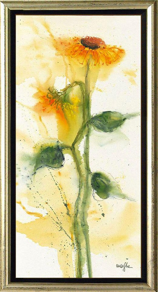 Home affaire, Schattenfugenbild, »Sonnenblumen«, 55/105 cm in gelb/grün