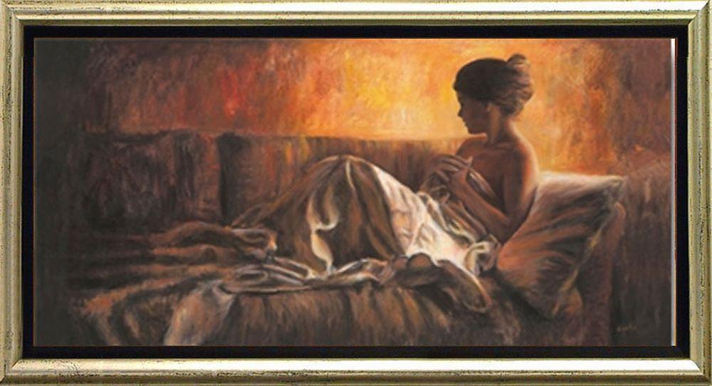 Home affaire, Schattenfugenbild, »Frau auf Sofa«, 105/55 cm