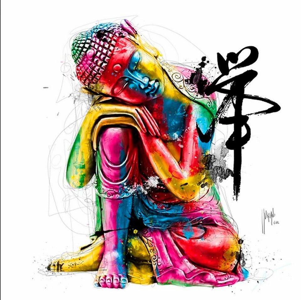 Home affaire, Deco Panel, »Buddha«, 70/70 cm in bunt