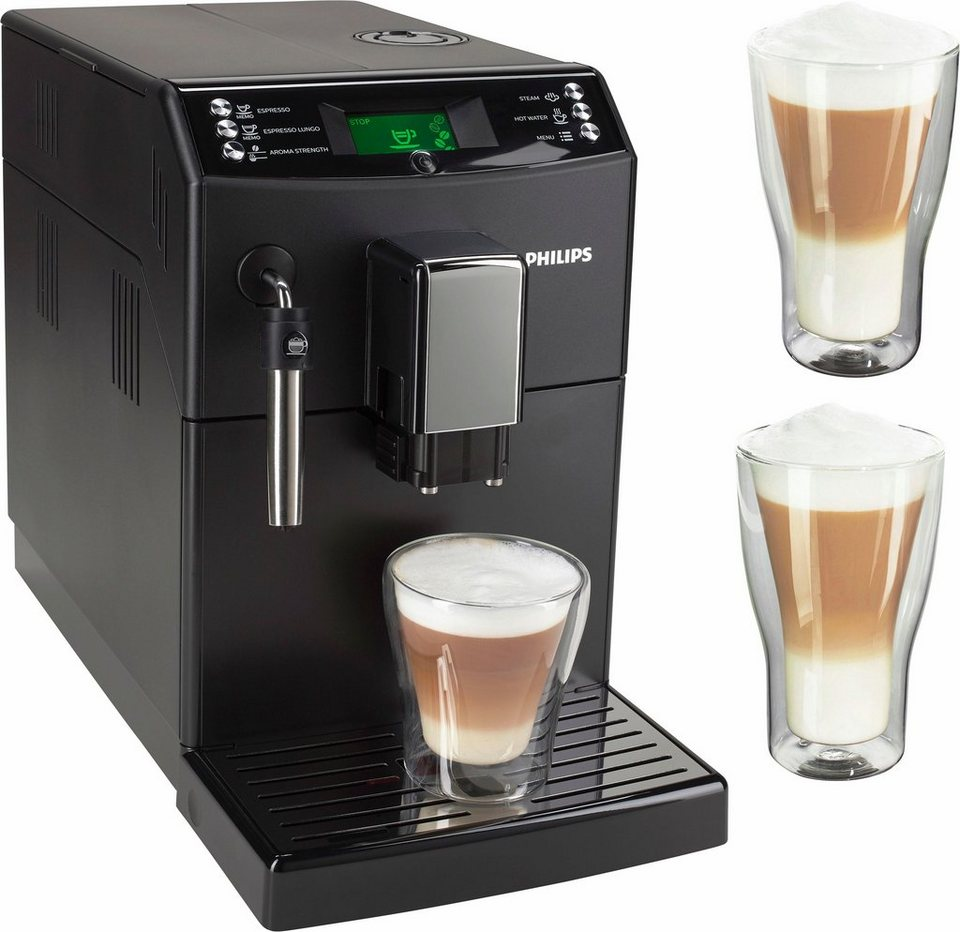 philips kaffeevollautomat hd8831 01 inklusive 2x latte macchiato gl ser online kaufen otto. Black Bedroom Furniture Sets. Home Design Ideas