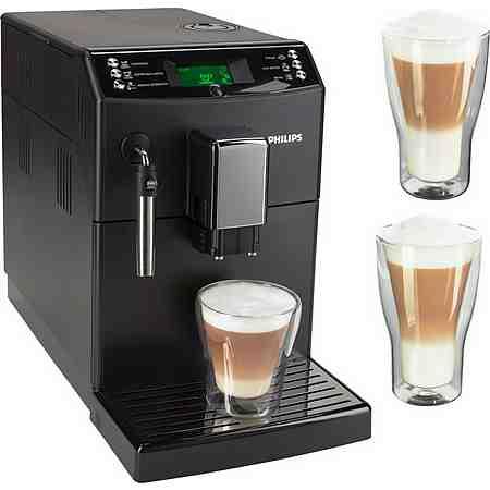 Philips 3100 Series Kaffeevollautomat HD8831/01 mit Pannarello, inkl. 2x Latte Macchiato Gläser