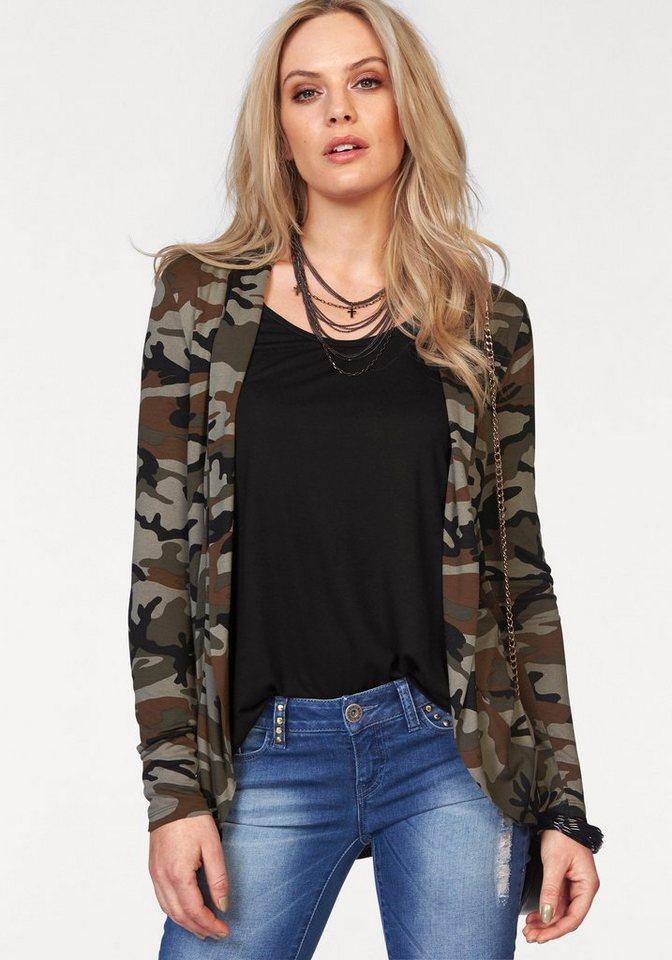 Melrose Shirtjacke im Tarn-Look in khaki