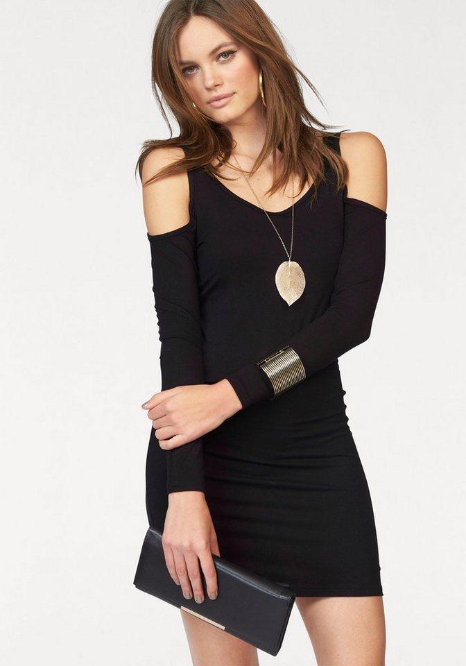 Melrose Jerseykleid mit freien Schultern in schwarz