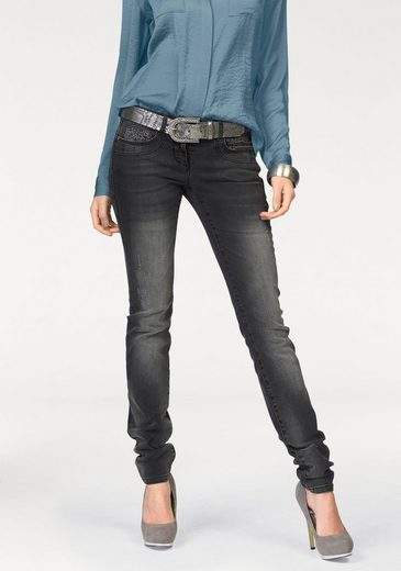 Melrose Tube Jeans, With Glittering Stones