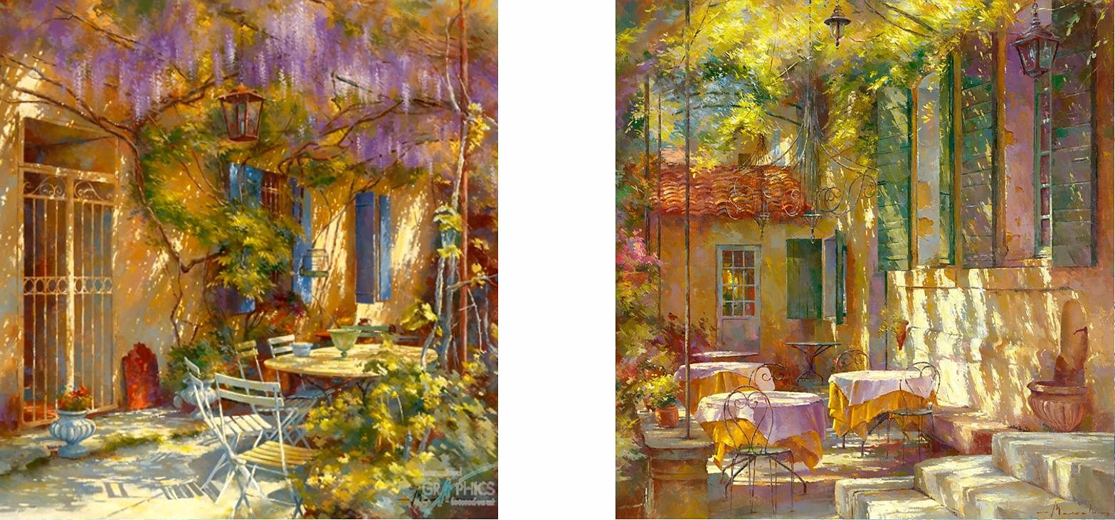 Home affaire, Deco-Panel, »Am Tisch von Michele«, 2x 30/30 cm