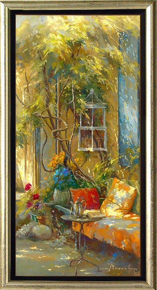 Home affaire, Schattenfugenbild, »Teestunde«, 55/105 cm in bunt