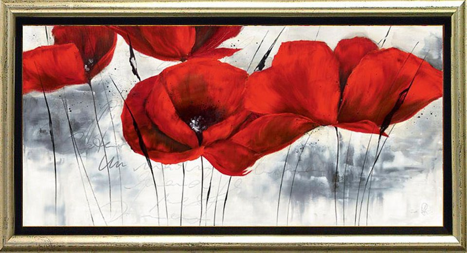 Home affaire, Schattenfugenbild, »Wintermohn«, 105/55 cm in rot/grau