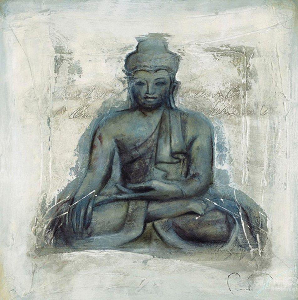 Home affaire, Deco Panel, »Buddha », 70/70 cm in anthrazit
