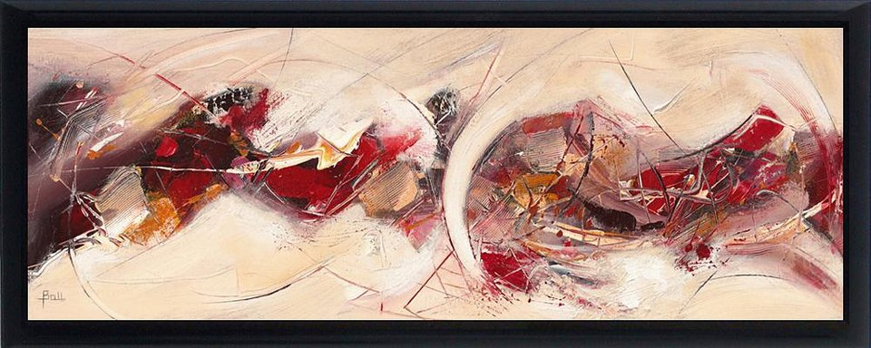 Home affaire, Schattenfugenbild, »Vibrationen II«, 100/38 cm in rot/creme
