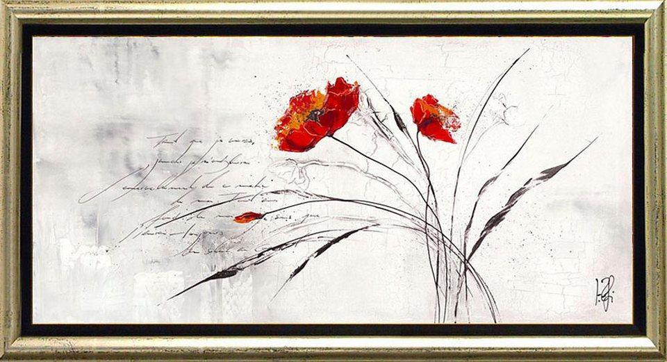 Home affaire, Schattenfugenbild, »Traumblühend IV«, 105/55 cm in grau/rot