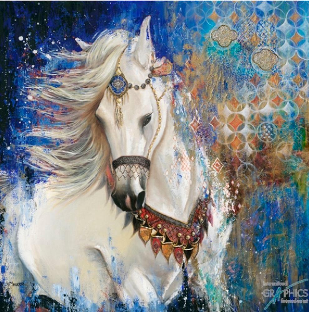 Premium Picture, Deco Panel, »Geschmücktes Pferd«, 70/70 cm