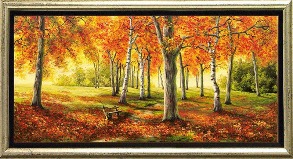 Home affaire, Schattenfugenbild, »Herbststimmung«, 105/55 cm in orange/braun