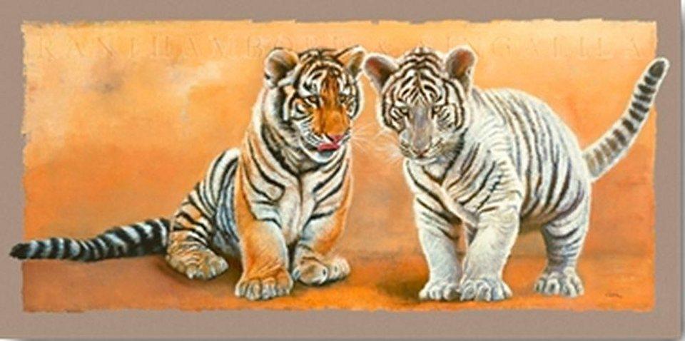 Home affaire, Deco Panel, »Tigerjunge«, 100/50 cm in hellbraun/beige