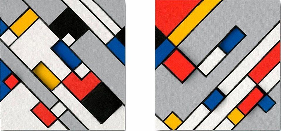 Home affaire, Deco-Panel, »Grafik«, 2x 30/30 cm in bunt