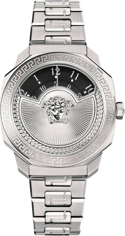 Versace Schweizer Uhr »DYLOS ICON, VQU030015« in silberfarben