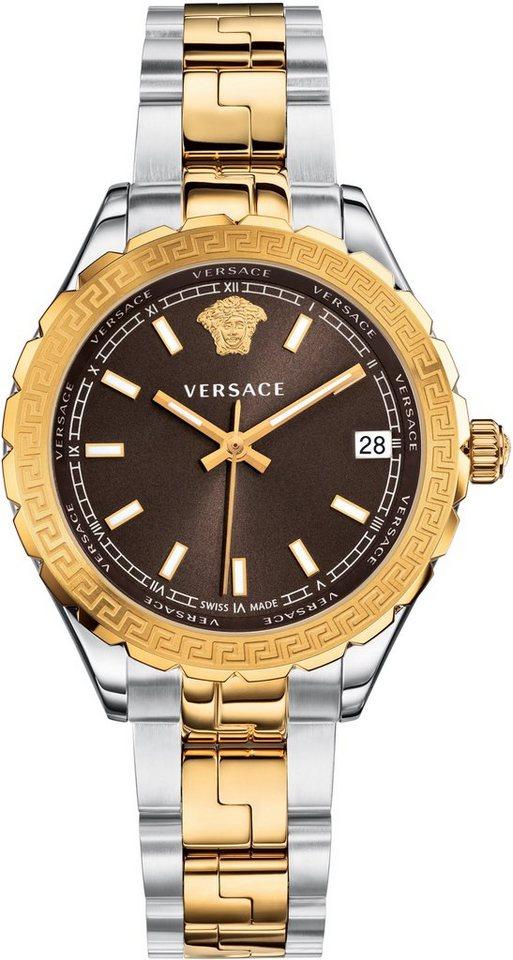 Versace Schweizer Uhr »HELLENYIUM, V12010015« in silberfarben-goldfarben
