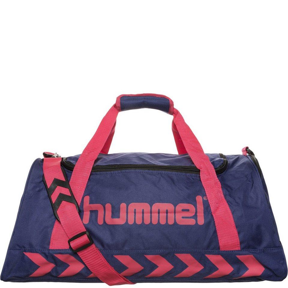 HUMMEL TEAMSPORT Authentic Sporttasche in dunkelblau / pink