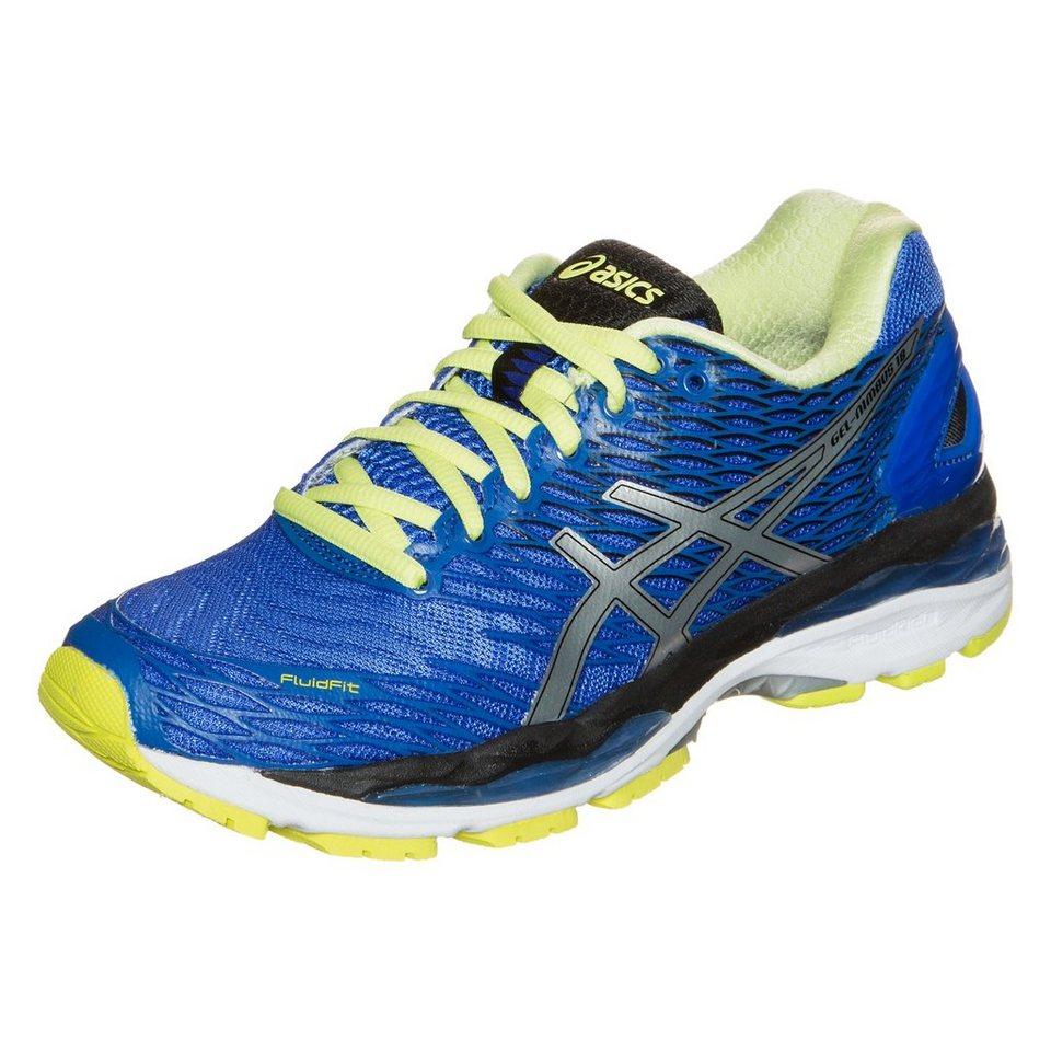 ASICS Gel-Nimbus 18 Laufschuh Damen in blau / gelbgrün
