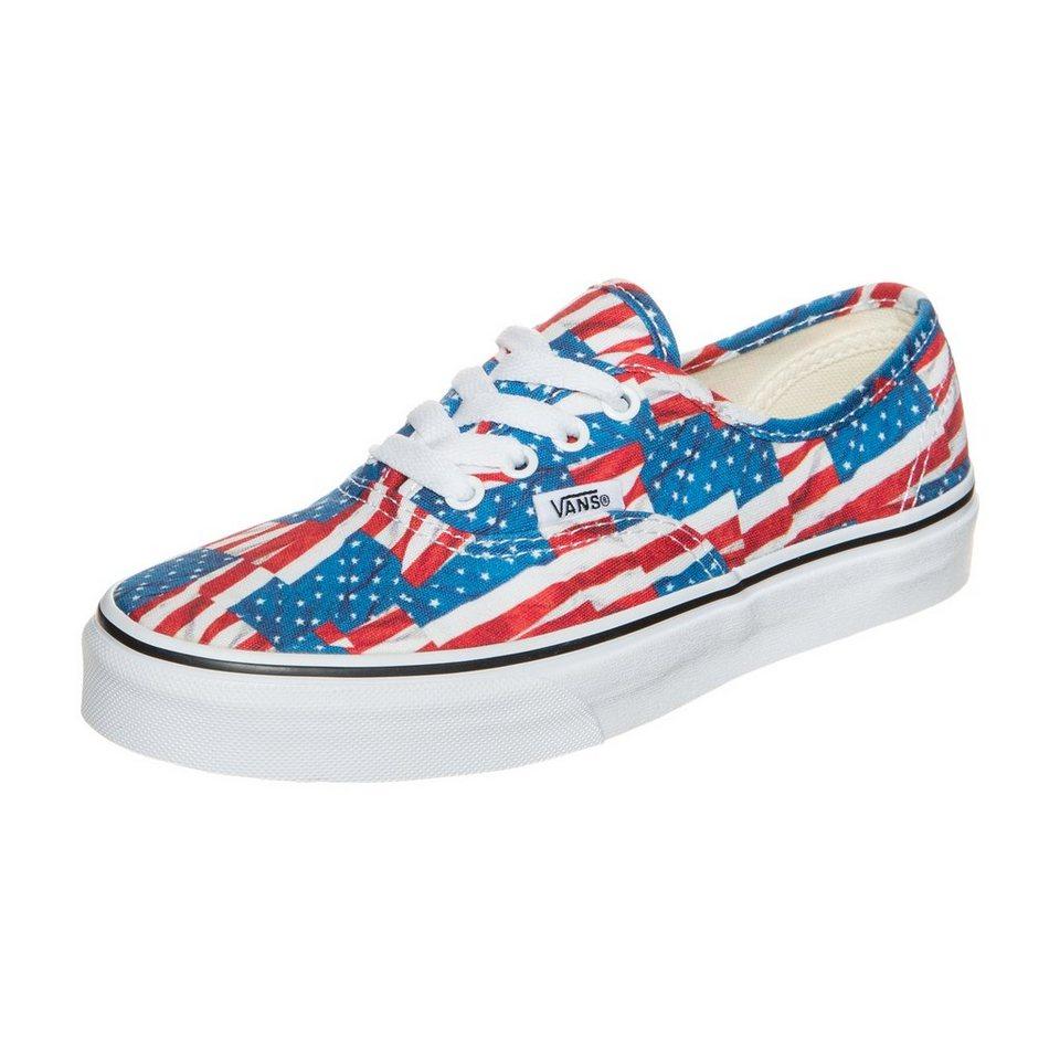VANS Authentic Free Flag Sneaker Kinder in rot / blau / weiß