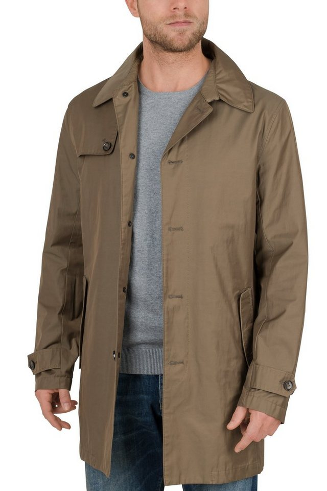 S4 Jackets waterrepellant Trenchcoat »HOLMES« in camel