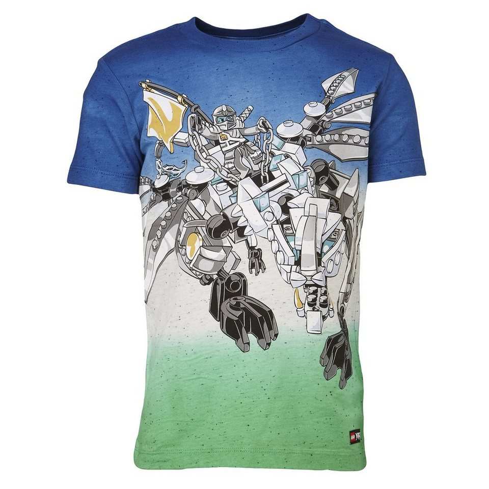 "LEGO Wear Ninjago T-Shirt Tony ""All Over"" kurzarm Shirt mehrfarbig in dunkelblau"