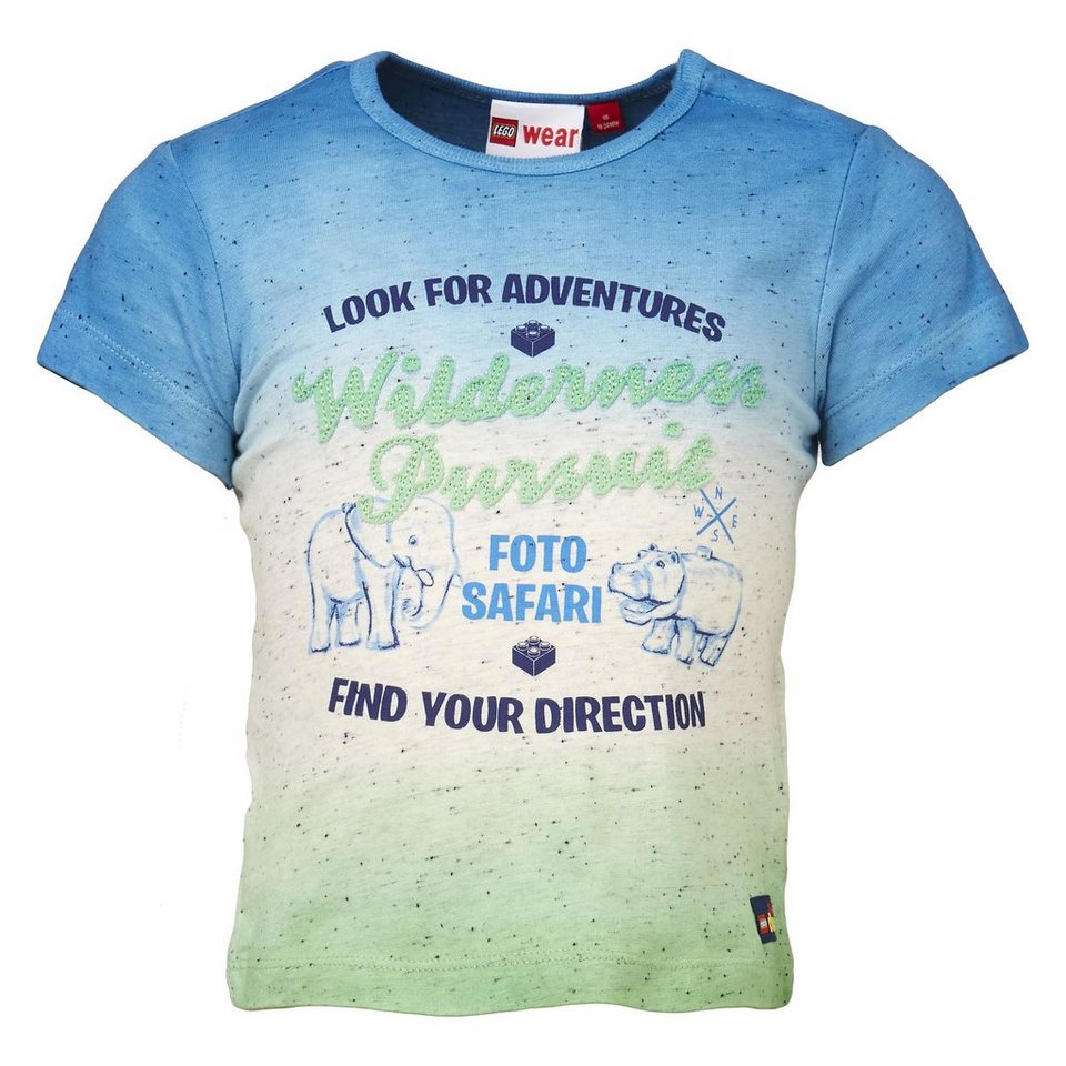 "LEGO Wear Duplo T-Shirt ""Foto Safari"" kurzarm Shirt Trey in blau"