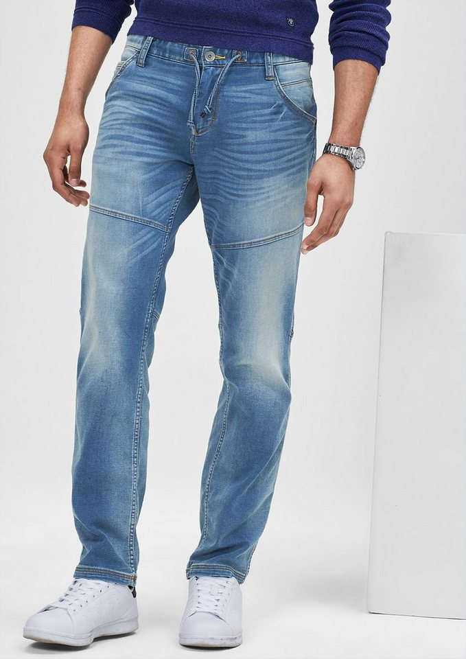 s.Oliver RED LABEL Tubx Straight: Jogging-Jeans in blue denim stretch
