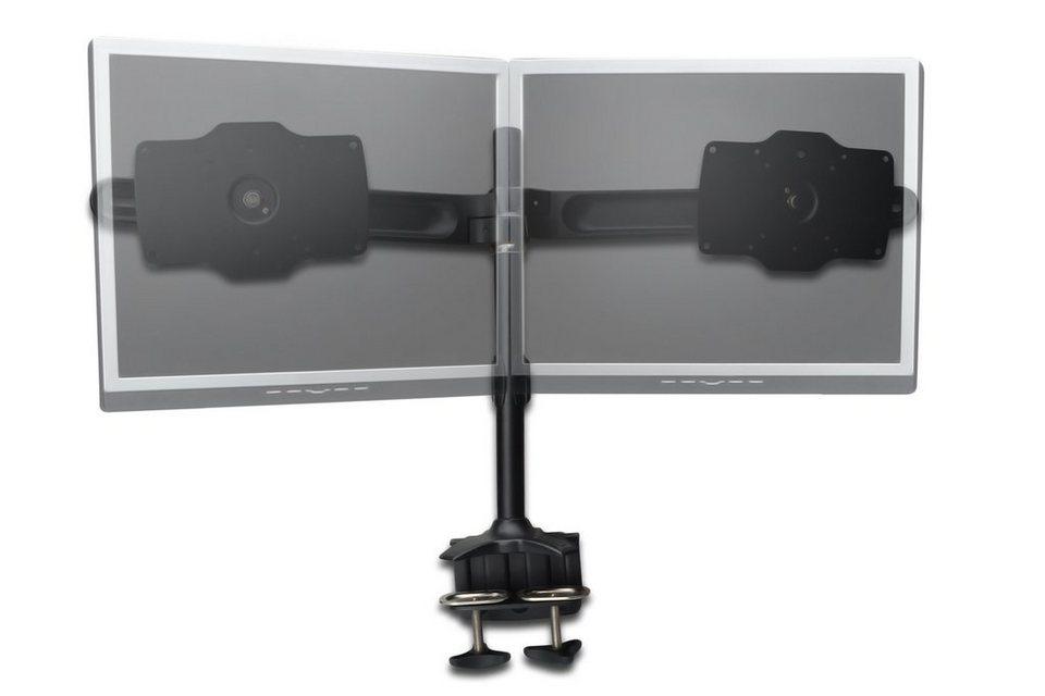 Digitus Halterung »Dual LCD Desktop Monitorhalter mit Tischhalterung«