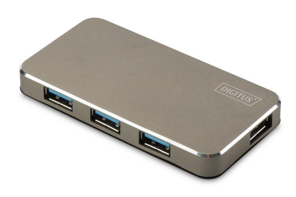 Digitus USB Hub »USB 3.0 Office Hub, 4-Port inkl. Netzteil«