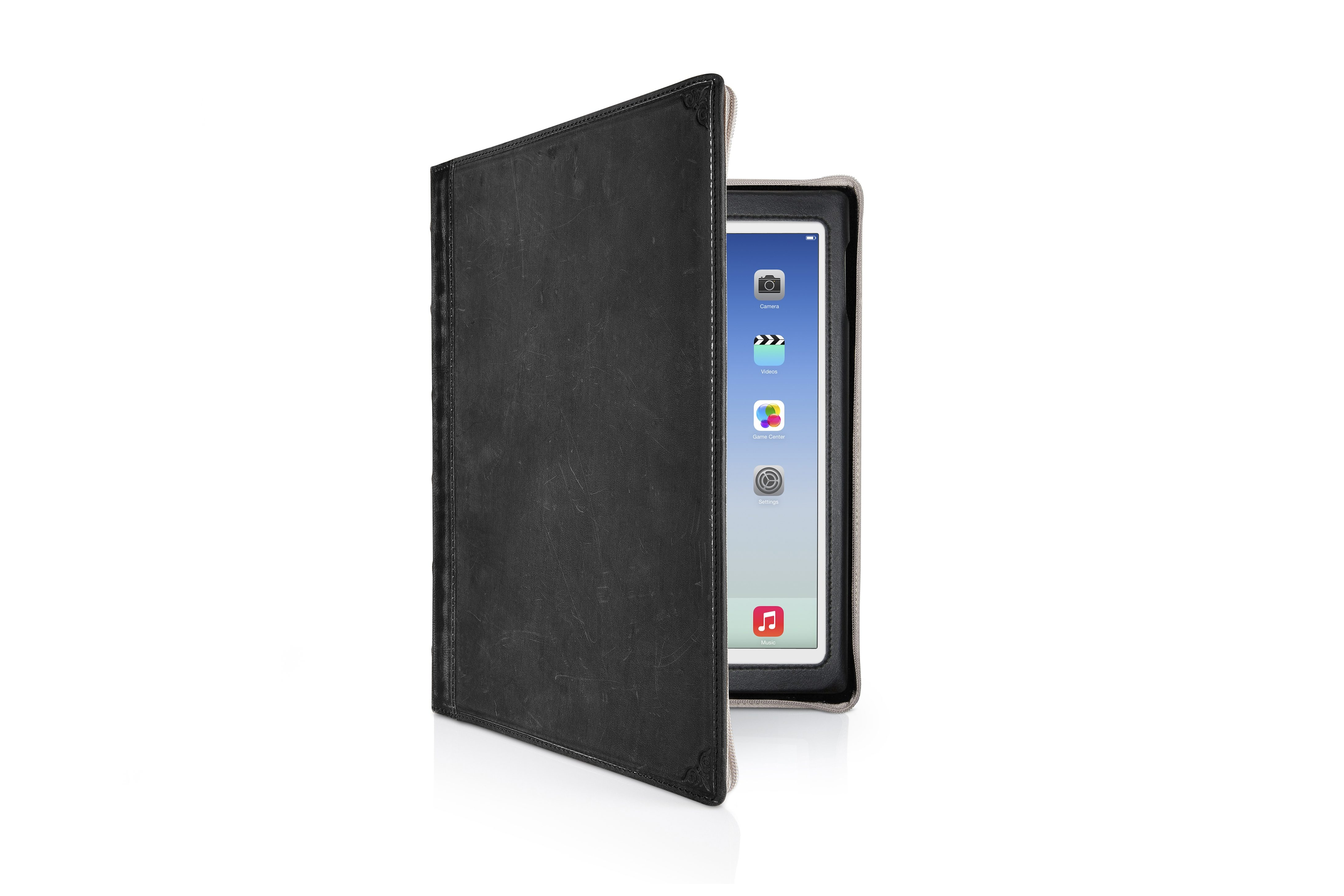 Twelve South Lederhülle im antiken Buchformat für iPad Air, Air 2 »BookBook«