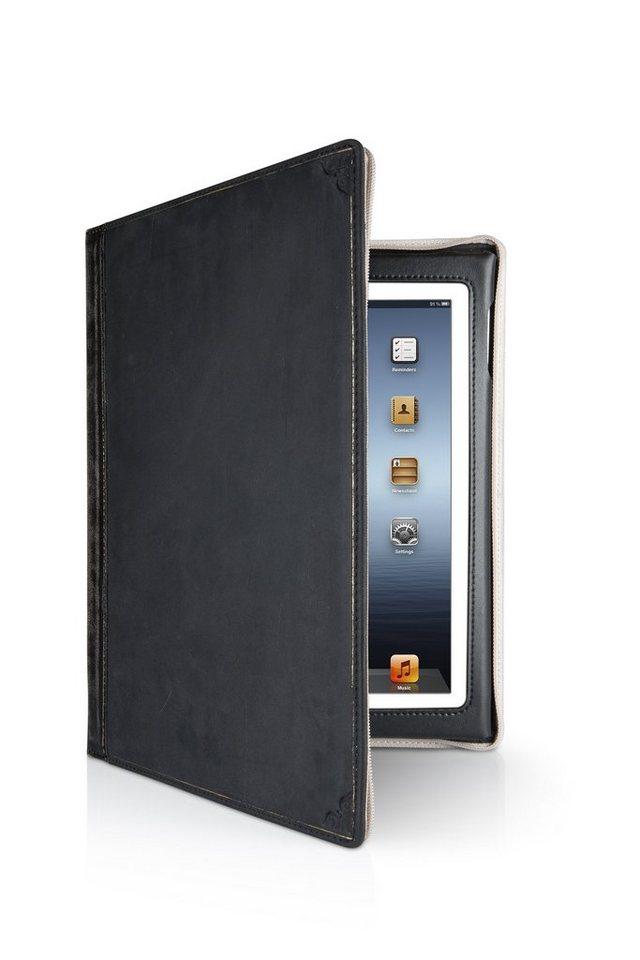 Twelve South Lederhülle im antiken Buchformat für iPad 2, 3, 4 »BookBook« in schwarz