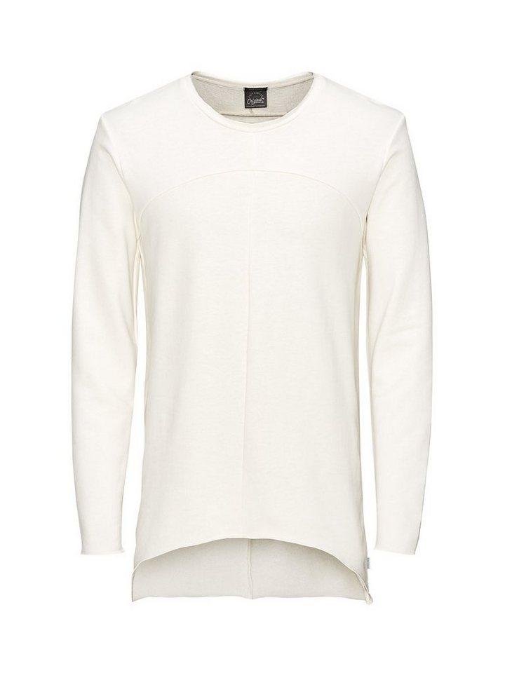 Jack & Jones Longline Sweatshirt in Cloud Dancer