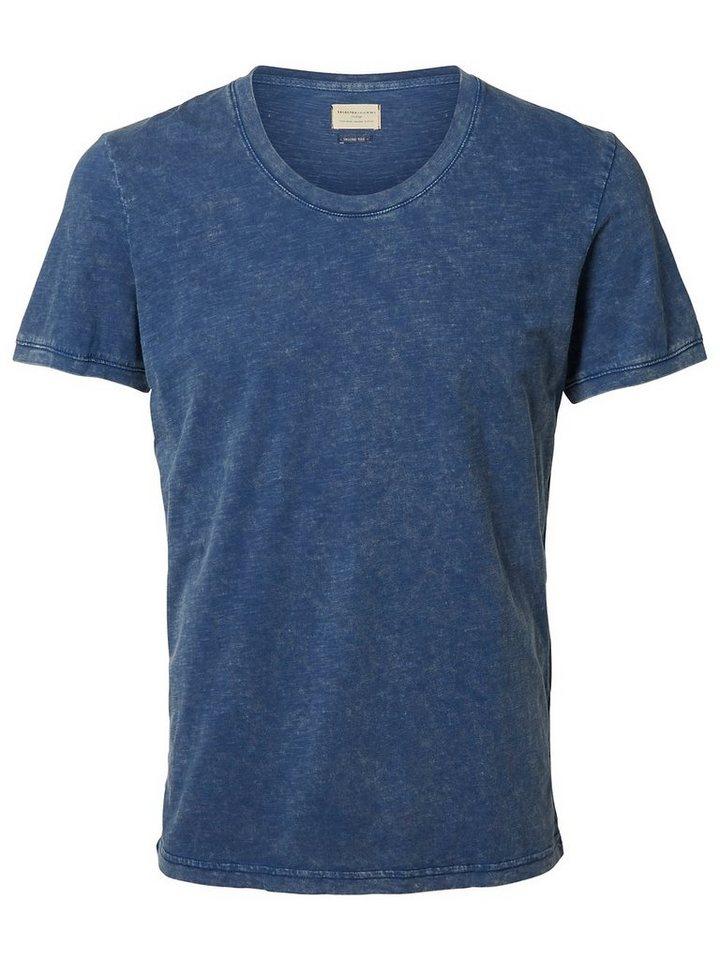 Selected Rundausschnitt T-Shirt in Estate Blue