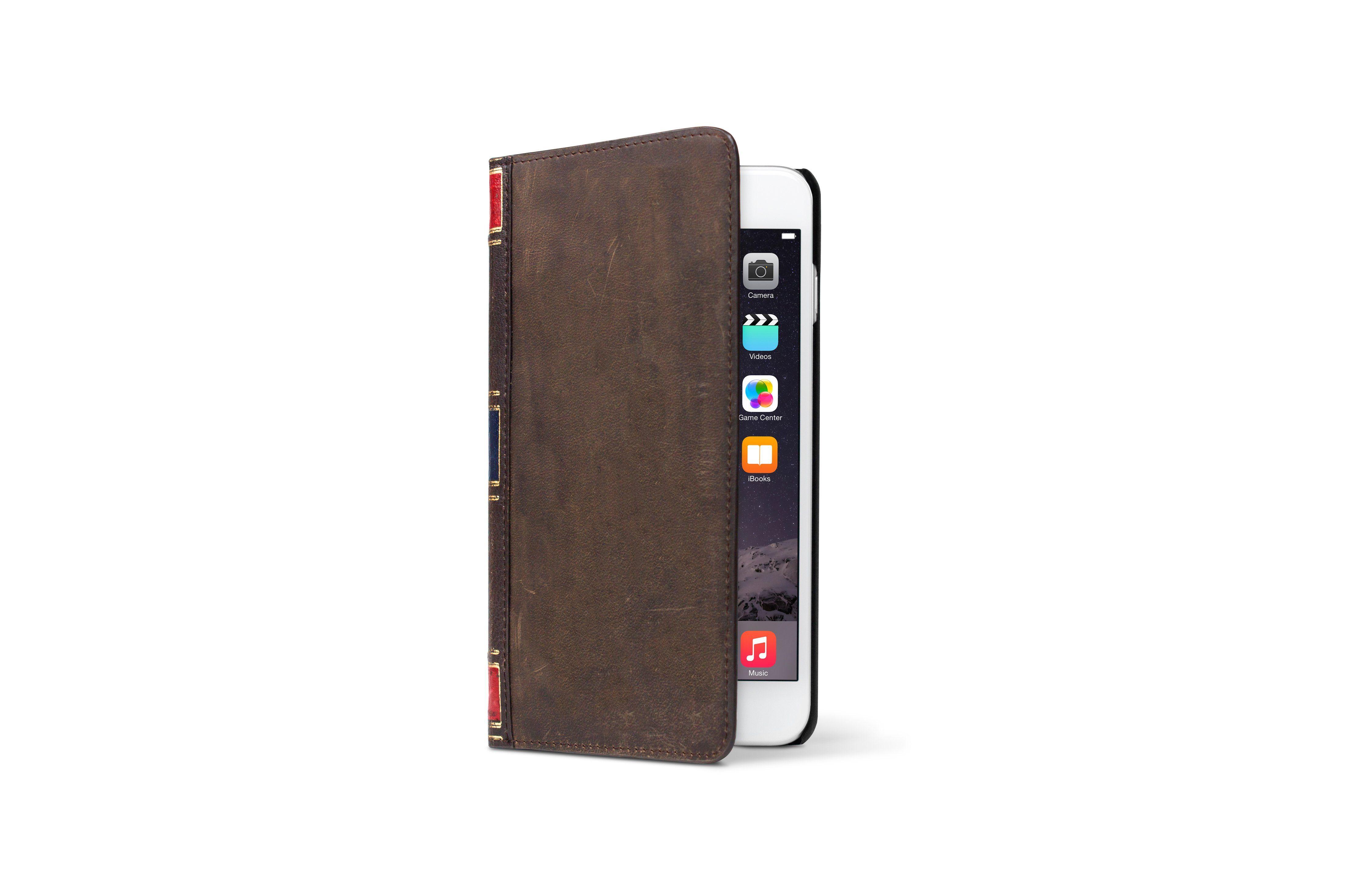 Twelve South Lederhülle im antiken Buchformat für iPhone 6 Plus »BookBook«