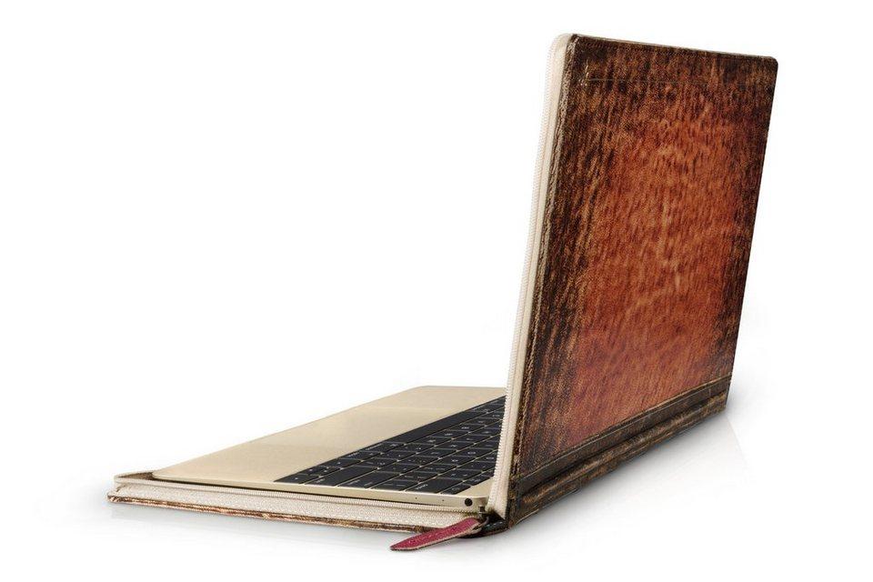 Twelve South Lederhülle im antiken Buchformat für MacBook 12 »BookBook Rutledge« in rotbraun