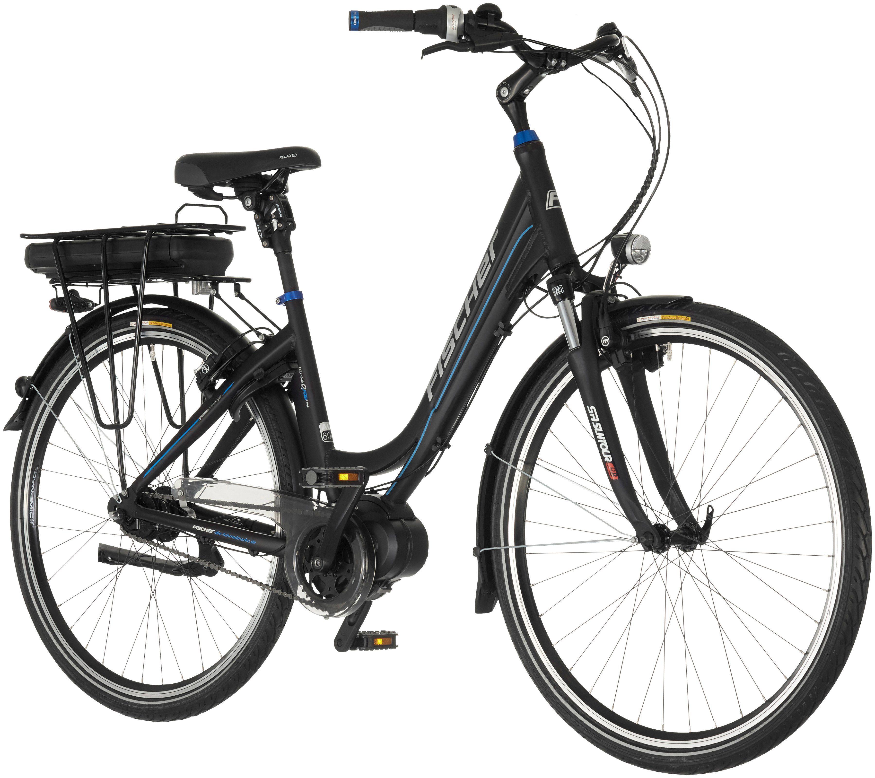 Fischer Fahrraeder E-Bike City Damen »Vitalrad ECU1605«, 28 Zoll, 7 Gang, Mittelmotor, 557 Wh