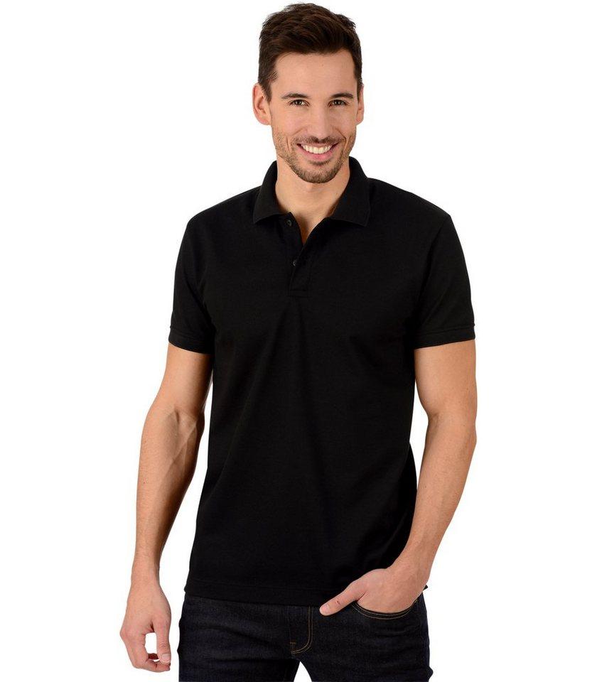 TRIGEMA Polo-Shirt - Slim-Fit in schwarz