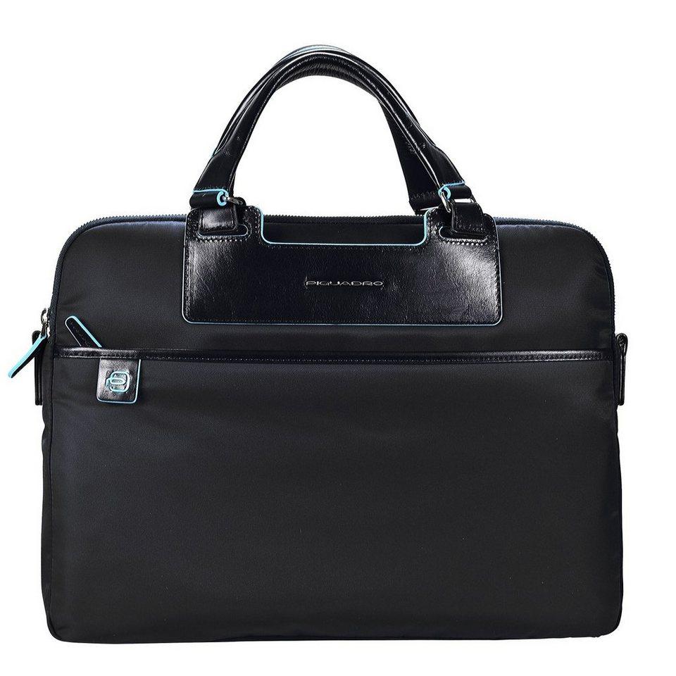 Piquadro Celion Aktentasche 39 cm Laptopfach in schwarz