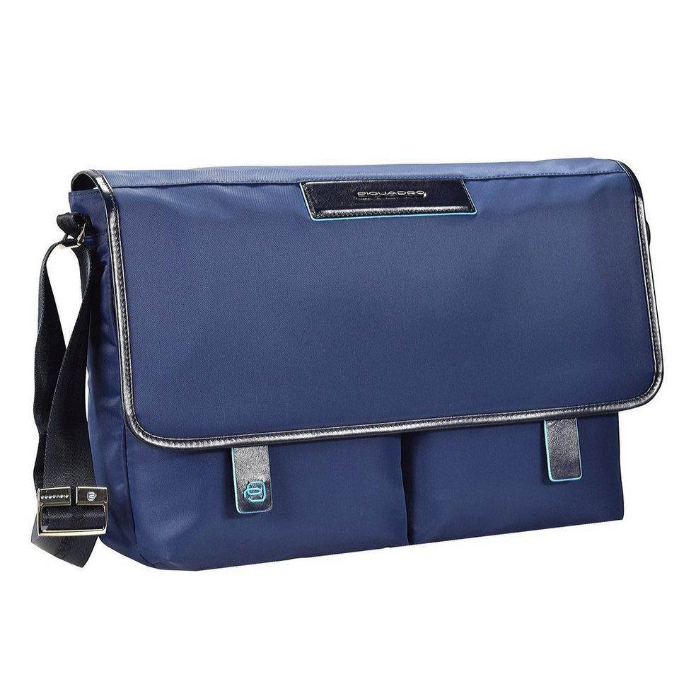 Piquadro Celion Messenger 39 cm Laptopfach in blau
